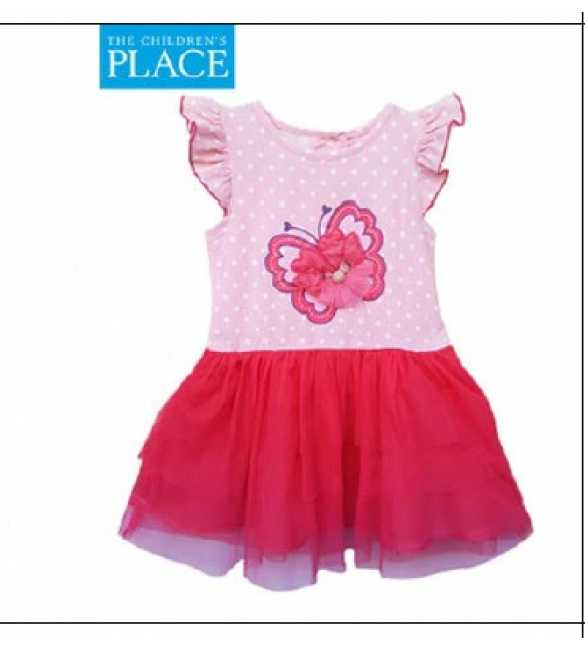 Dress Anak Place Butterfly Pink